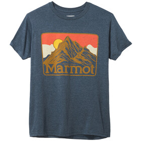 Marmot Mountain Peaks T-shirt Heren, navy heather